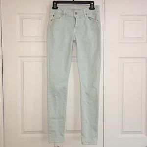 7 for all man kind the skinny mint size 27